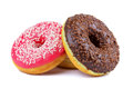 Delicious donuts white background Stock Photos