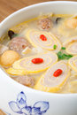 Delicious egg pork roll soup Royalty Free Stock Photo