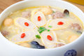 Delicious egg pork roll soup 2 Royalty Free Stock Photo