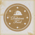 Delicious food over vintage background vector illustration Royalty Free Stock Photography
