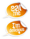 Delicious food stickers Stock Photography