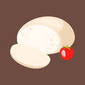 Delicious fresh cheese variety italian dinner icon flat dairy food and milk camembert piece delicatessen gouda meal