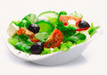 Delicious fresh Greek salad Royalty Free Stock Photo