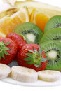 Delicious Fruit on Plate Royalty Free Stock Images