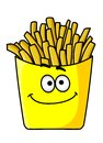 Delicious golden crispy French fries in a packet Stock Photography