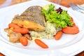Delicious Halibut fish dish