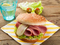 Delicious hamburger like a monster for kids party selective focus Royalty Free Stock Photography