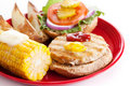 Delicious Healthy Turkey Burger Royalty Free Stock Photo