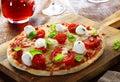 Delicious homemade Italian pizza Royalty Free Stock Photo