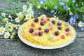 Delicious homemade pancakes with berries Royalty Free Stock Photography