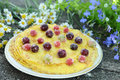 Delicious homemade pancakes with berries Royalty Free Stock Photos