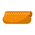 Delicious hot dog icon