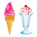 Delicious ice cream Stock Images