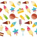 Delicious ice creams pattern background