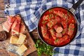 Delicious Italian Braciole with marinara sauce Royalty Free Stock Photo