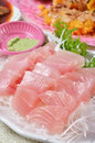 Delicious japanese fresh raw seafood swordfish sashimi Stock Photos
