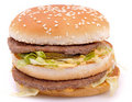 Delicious juicy cheeseburger/hamburger Royalty Free Stock Images