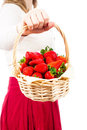 Delicious juicy fresh strawberries Stock Image