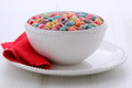 Delicious kids cereal loops Stock Photography