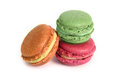Delicious macarons different sorts of isolated on white background Royalty Free Stock Photo