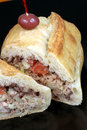 Delicious mediterranean tuna sandwich Royalty Free Stock Photo