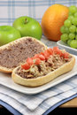 Delicious mediterranean tuna sandwich Royalty Free Stock Photo