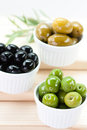 A delicious mix of greek olives Royalty Free Stock Images