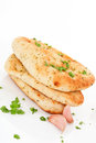 Delicious naan flatbread. Stock Photos