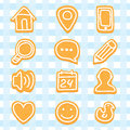 Delicious and nice cookies icons set Royalty Free Stock Images