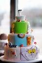 Delicious original birthday cake wedding or Stock Photography