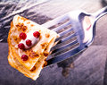 Delicious pancakes appetizer with redcurrant Stock Photography