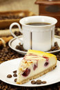 Delicious piece of cake and coffee Royalty Free Stock Photography