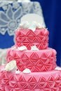 Delicious pink wedding cake Royalty Free Stock Photo