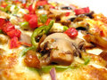 Delicious pizza with mushroom Royalty Free Stock Photos