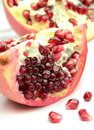 Delicious pomegranate close up image Stock Image