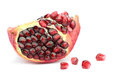 Delicious pomegranate on white background Royalty Free Stock Image
