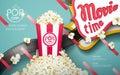 Delicious popcorn ads