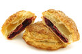 Delicious puff pastry cherry turnovers Royalty Free Stock Photo