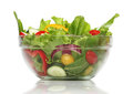 Delicious salad on a bowl isolated over white Royalty Free Stock Image