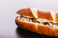 Delicious sandwich with tuna Royalty Free Stock Photo