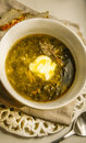 Delicious soup or green borch Royalty Free Stock Photo