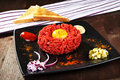 Delicious steak tartare. Stock Image