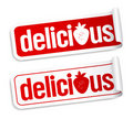 Delicious stickers. Stock Photography