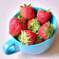 Delicious strawberries in a cup hralthy fruit snack Stock Photography