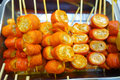 Delicious street food in the streets of Asia, Hong Kong, China