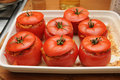 Delicious stuffed tomatoes Stock Image