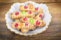 Delicious Sweet Cookies with Jujube Royalty Free Stock Photo