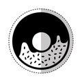 Delicious sweet donut icon