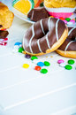 Delicious sweets in saturated composition sweet and tasty of homemade Stock Images