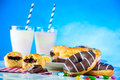 Delicious sweets in saturated composition sweet and tasty of homemade Royalty Free Stock Photo